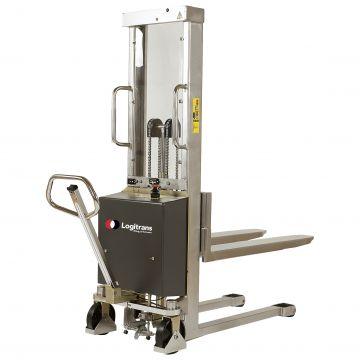 Gerbeur semi-électrique inox 1000 kg
