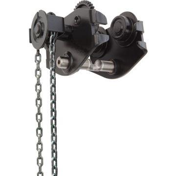 Chariot porte-palan à chaîne ou à poussée