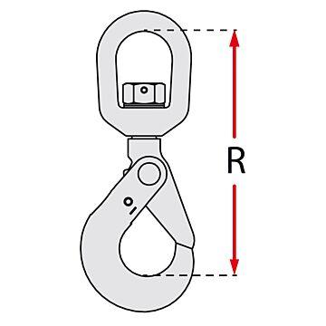 Crochet de sécurité à émerillon à verrouillage automatique