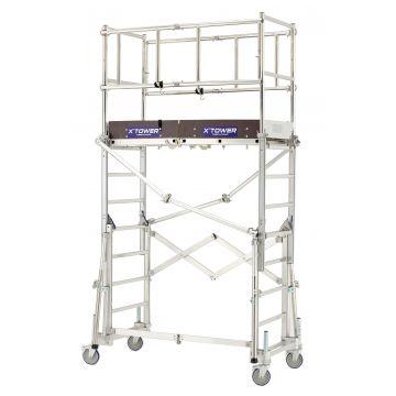 Echafaudage télescopique en aluminium X'TOWER
