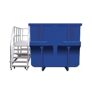 Plate-forme mobile pour accès bennes à déchets