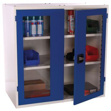 Armoire portes battantes pleines ou transparentes
