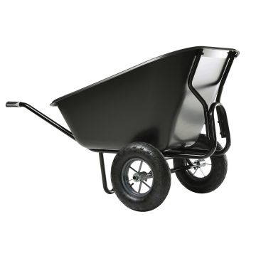 Brouette polypro 2 roues - 300 L