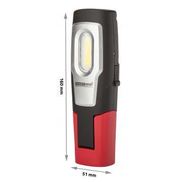 Lampe de travail rechargeable 150 Lumens avec pointeur laser