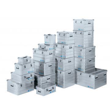 Caisse conteneur gerbable en aluminium