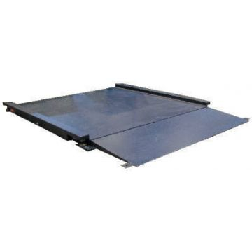 Balance plate-forme au sol surbaissée en acier avec indicateur inox