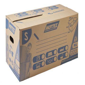 Caisse de déménagement carton fermeture automatique simple cannelure