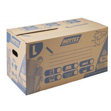 Caisse de déménagement carton fermeture automatique double cannelure