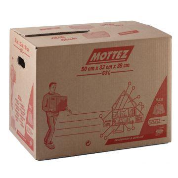 Caisse de déménagement carton fermeture 100 % automatique simple cannelure