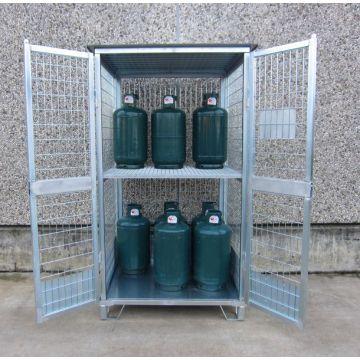 Box de stockage pour bouteilles de gaz