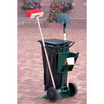 Chariot de voirie porte-sac poubelle 150 litres
