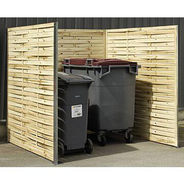 Cache-conteneurs en bois tressé