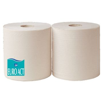 Bobine ouate blanche lisse