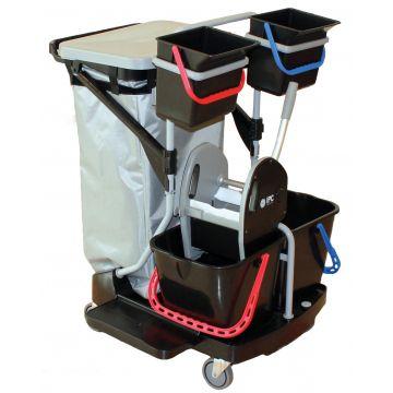 Chariot de ménage et lavage + accessoires