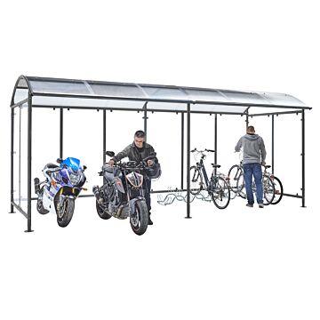 Abri vélos Dôme avec extension