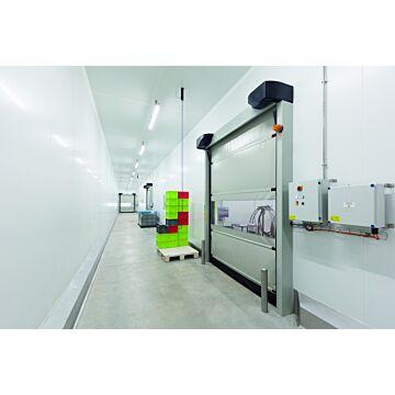 Porte souple automatique à enroulement rapide