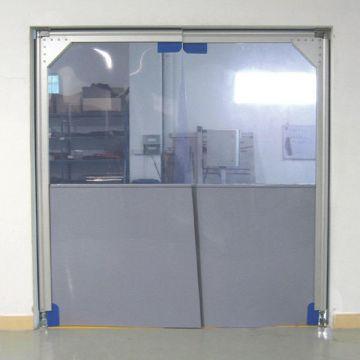 Porte souple automatique à vantaux